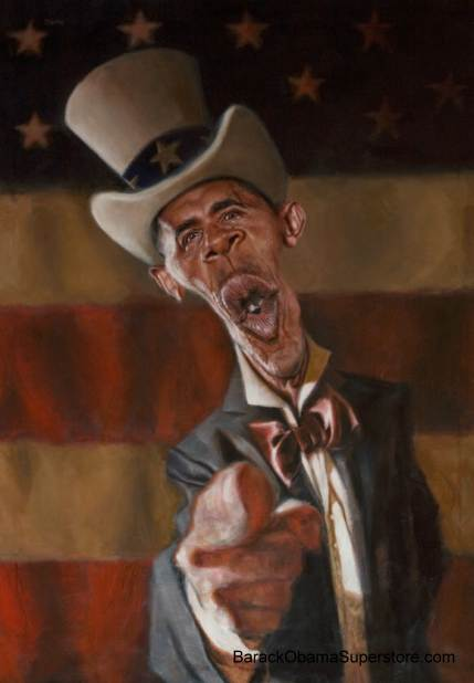 OBAMA WANTS YOU!  SPLENDID  GLICLEE ON CANVAS - LIMITED EDITION